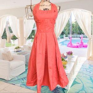 Coral 50s vintage summer dress